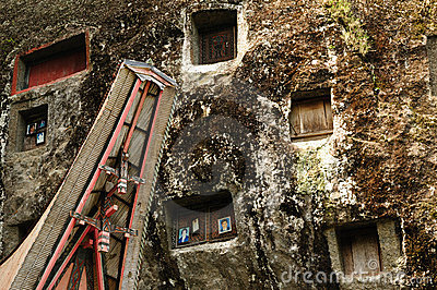 Indonesia, Sulawesi, Tana Toraja, Ancient tomb Editorial Stock Image