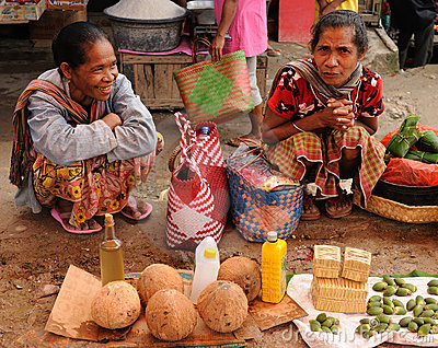 Indonesia - traditional tribal market Editorial Stock Image