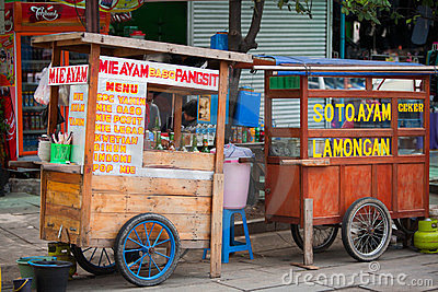 Indonesian food stalls Editorial Image