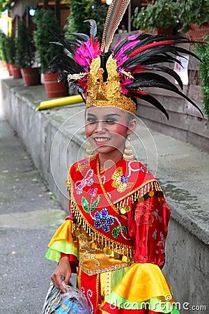 Indonesian girl Editorial Stock Image