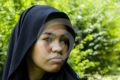Indonesian moslim girl