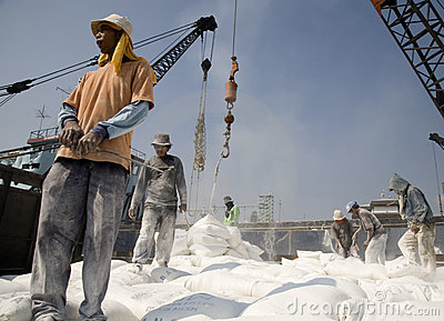 Indonesian port workers Editorial Photography
