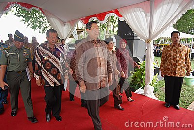 INDONESIAN PRESIDENT YUDHOYONO Editorial Stock Image