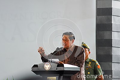 INDONESIAN PRESIDENT YUDHOYONO Editorial Image