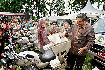 INDONESIAN PRESIDENT YUDHOYONO Editorial Stock Photo