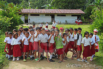Indonesian schoolchildren Editorial Stock Photo
