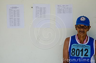 INDONESIAN SENIOR ATHLETES Editorial Stock Photo