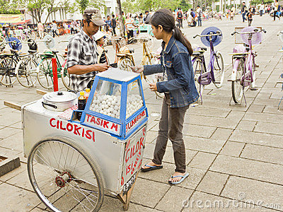 Indonesian street vendor Editorial Photography