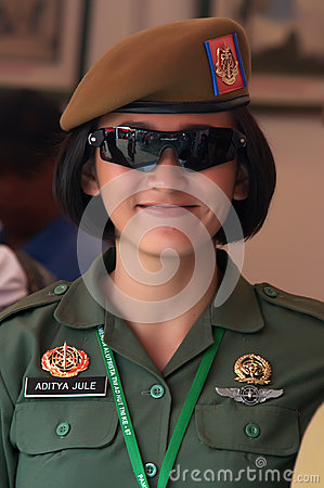 Indonesian woman soldier