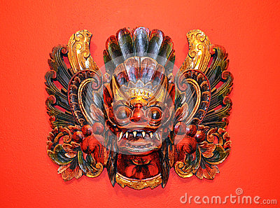 Indonesian wooden mask