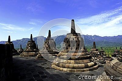 Indonésia, Java central. O templo de Borobudur