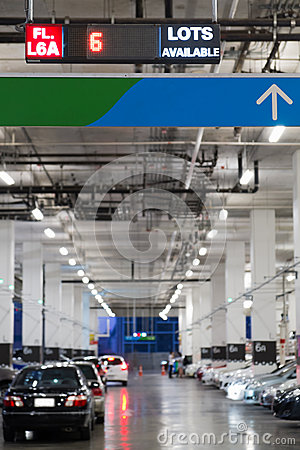Indoor cars parking with electronic board
