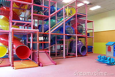 Indoor children playground in room
