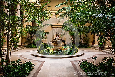 Editorial Stock Image: Indoor garden area in the National Gallery of ...