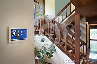 Indoor house thermostat Editorial Photography