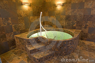 Indoor jacuzzi pool