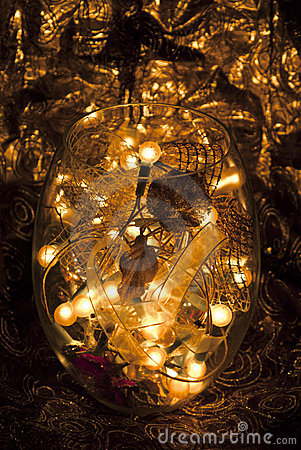 Indoor lighting and decors in a vase