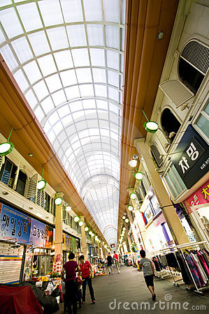 Indoor market of Iksan, South Korea Editorial Stock Image