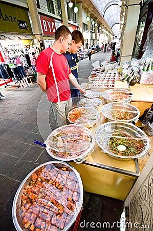 Indoor market of Iksan, South Korea Editorial Image