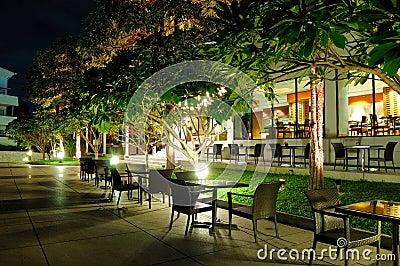 Indoor and outdoor restaurants