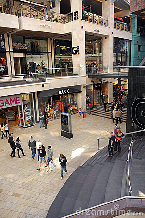 Indoor shopping mall Editorial Stock Image
