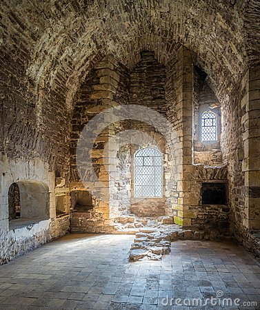 Free Indoor Sight In Doune Castle, Medieval Stronghold Near The Village Of Doune, In The Stirling District Of Central Scotland. Stock Images - 104141924