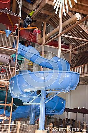 Indoor Waterpark or Water Park Slide Splash Fun