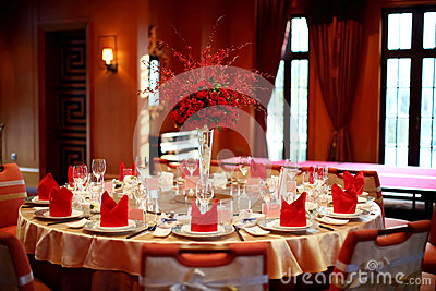 Indoor wedding scene
