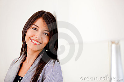 Indoors girl smiling