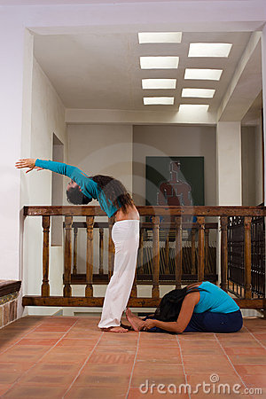 Indoors yoga