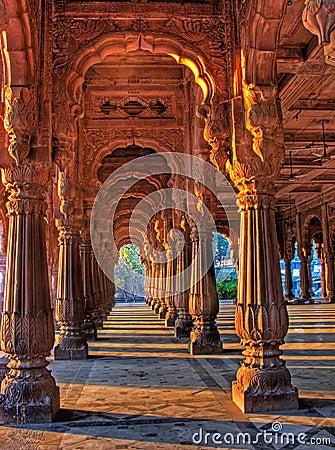 Indore Rajwada, der königliche Palast von Indore, Indien