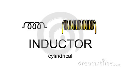 Inductor icon and symbol