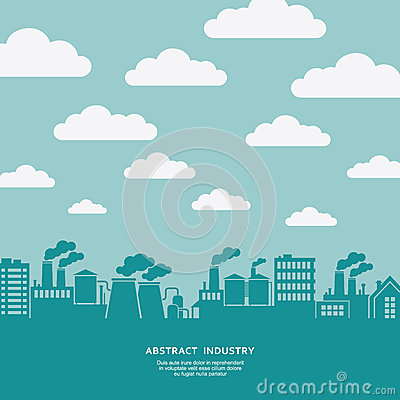 Free Industial Factory And Flying Clouds Silhouette  Background Royalty Free Stock Photo - 44144255