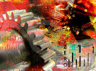 Industiral collage abstract