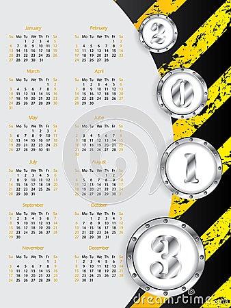 Industrial 2013 calendar design