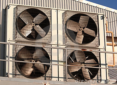 Industrial air conditioner and ventilation
