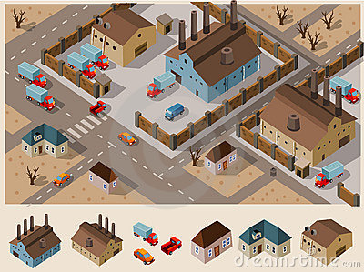 Industrial Area Isometric