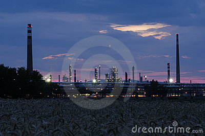 Industrial area - petroleum refinery