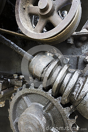 Industrial Art Concept, Gear, Screw, Wheel