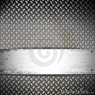 Free Industrial Background With A Metallic Banner. Stock Images - 19978434