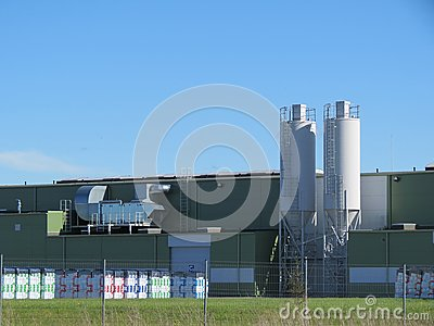 Industrial buildings ant tanks