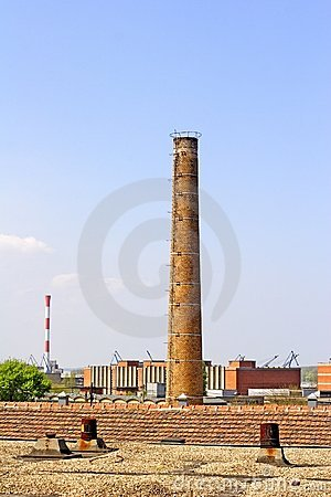 Free Industrial Chimney Royalty Free Stock Photo - 680995