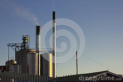 Industrial chimneys and air pollution