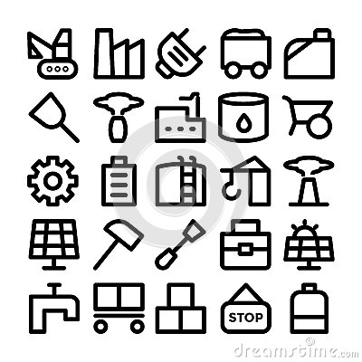 Free Industrial Colored Vector Icons 10 Royalty Free Stock Photos - 70425048