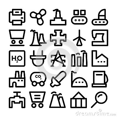 Free Industrial Colored Vector Icons 9 Royalty Free Stock Photo - 70424945