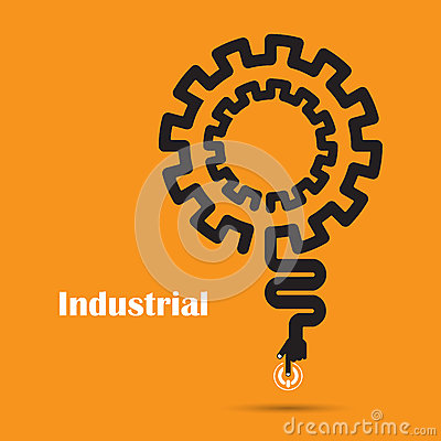 Industrial concept creative industrial abstract vector for Industrial design company