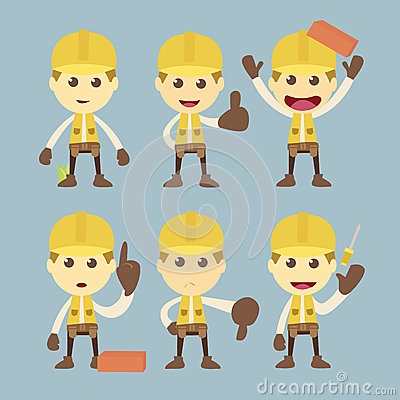 Industrial Construction Worker character
