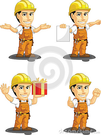 Industrial Construction Worker Customizable Mascot
