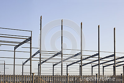 An industrial constructive site