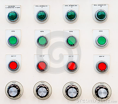 Industrial control panel button